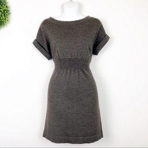 LOFT || Brown Wool Blend Boatneck Sweater Mini M
